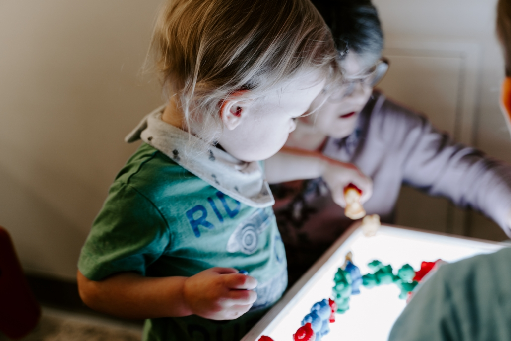 sensory play - daycare
